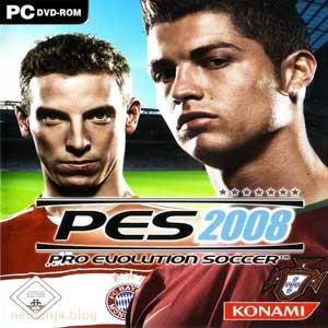 Pro Evolution Soccer 2008 предња страна омота